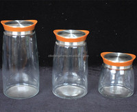 high quality glass container with acryl lid for food