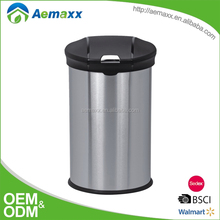 Household push button Flip bin trash can