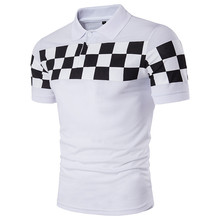 polo neck mens customized screen print 200gsm CVC white polo shirt(A913)