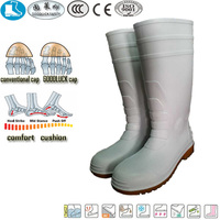 wholesale cheap white yellow pvc safety shoe footwear