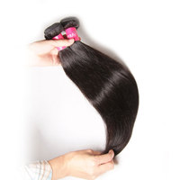Made In China Long Black Straight Hair Wig, Real Tangle Free Brazilian Virgin Human Hair Weave, Hair Straight
