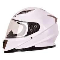 2016 new design best sale shinny white full face motorcycle helmet