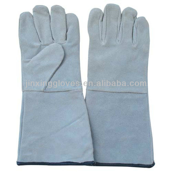 Cow split leather no lining welding gloves