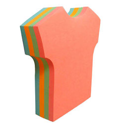 T shirt sticky notes colored paper sticky pad custom shape sticky cube