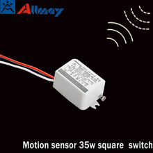 Microwave sensor LED light square switch simple and easy design angle 360 functional