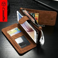 New Flip PU Leather Case Cover Skin For Samsung Galaxy S7 Edge Smartphone 5.5""