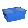 Wholesale nesting logistic moving plastic storage attached lid containers