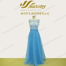Lace ice blue beaded maxi embroidery long designs china bridesmaid dresses