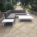 china supplier unique design outdoor furniture garden sofa chair alu set
