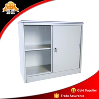 Chinese vendor fire proof 2 two sliding door Small steel metal kitchen file storage cupboards