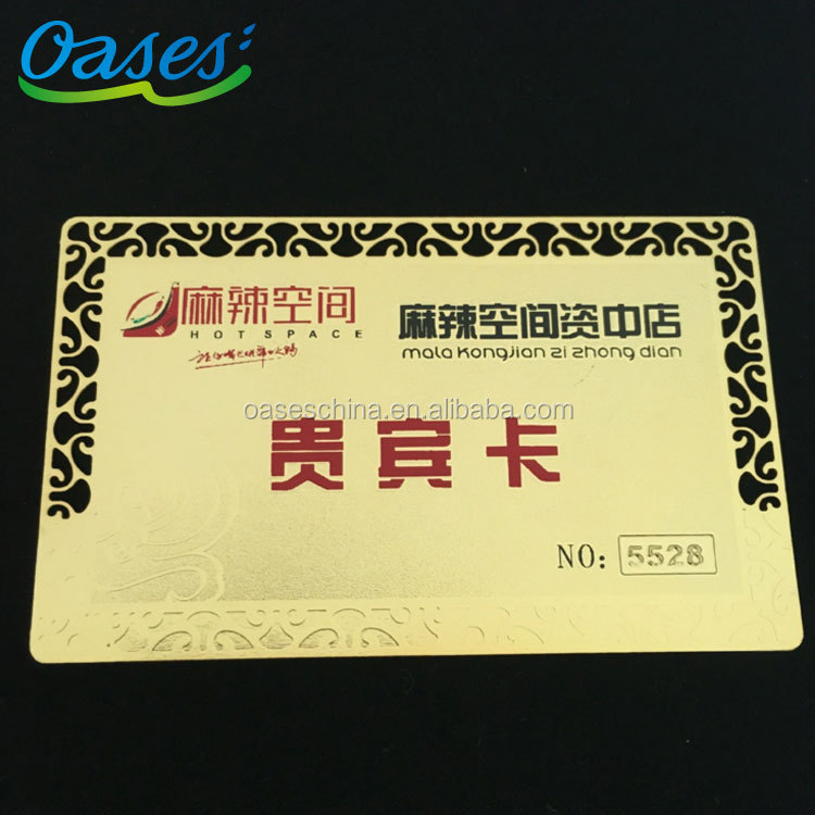 Gold electroplated metal card direct manufacture in shenzhen china