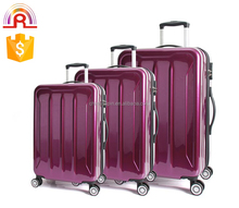 rose red trolley luggage 4 wheel rolling luggage lightweight travel luggage bag