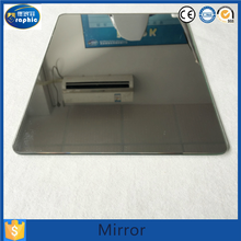 Customer buy half silvered copper free wall mirror without frame