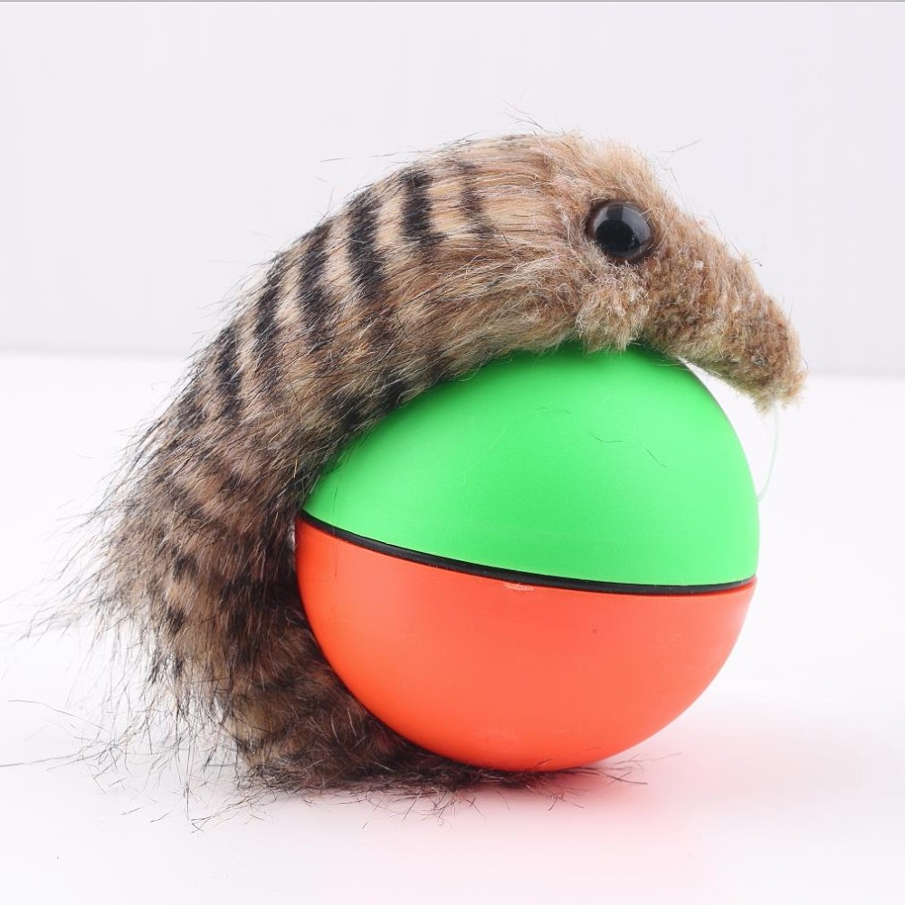 Popular New Dog Cat Weasel Motorized Funny Rolling Ball Pet Appears Jump Moving Alive Toy