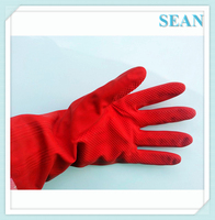 Warm Lace Reusable Latex Cleaning Gloves Waterstop Dishwashing Gloves Household laundry Rubber Gloves