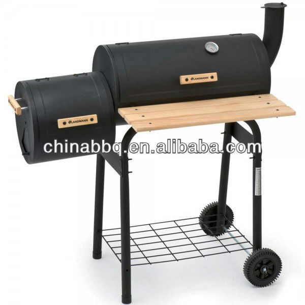 Chimenea Trolley Charcoal Brazier Barrel Barbecue Grill Smoker