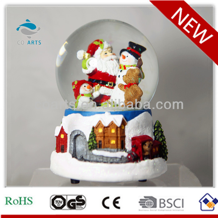 New design resin music snow globes with Christmas scene