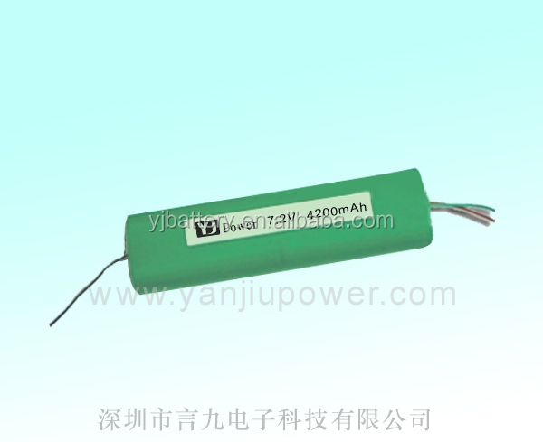 7.2v li-ion battery pack 7.4v 2200mah li ion battery 18650 7.2v 4200mah with rechargeable battery for power craft tool