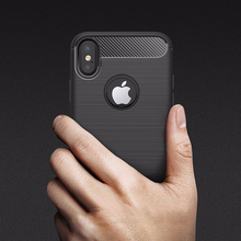 For iPhone X Case Premium Carbon Fiber , Mobile Phone Back Cover For iPhone 7/8 Case TPU