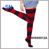 2014 winter women fashion chunky stripe thigh high socks
