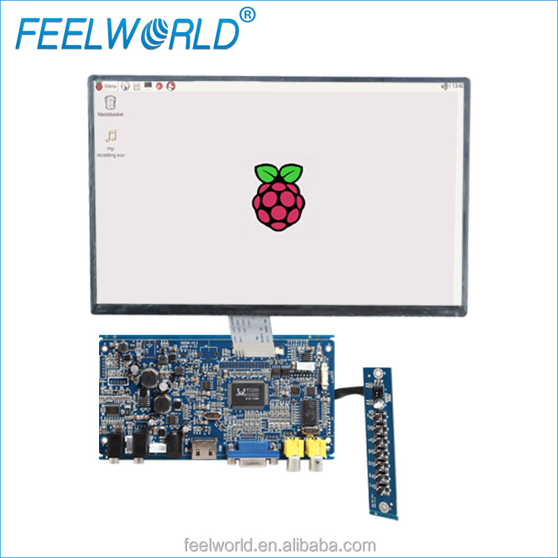 10.<strong>1</strong> inch 1024x600 200 nit touchscreen module raspberry pi <strong>3</strong> kit with HDMI VGA input