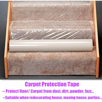 hot sale easy peel off transparent protective film for carpet