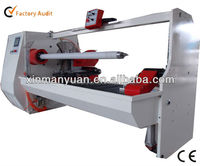 Adhesive tape log roll cutting machine,pvc/fabric/non woven/plastic/laminating film/paper roll cutting machine