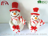 high quality popular christmas decoration wool felt snowman