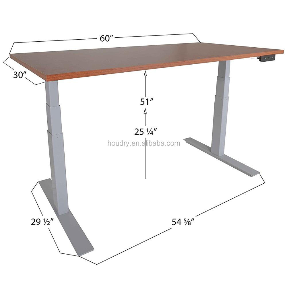 Electric adjustable height desk metal table legs for your office