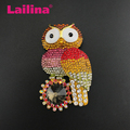 70mm Fashion Mulitcolor Crystal Rhinestone Owl Sunflower Bird Brooch