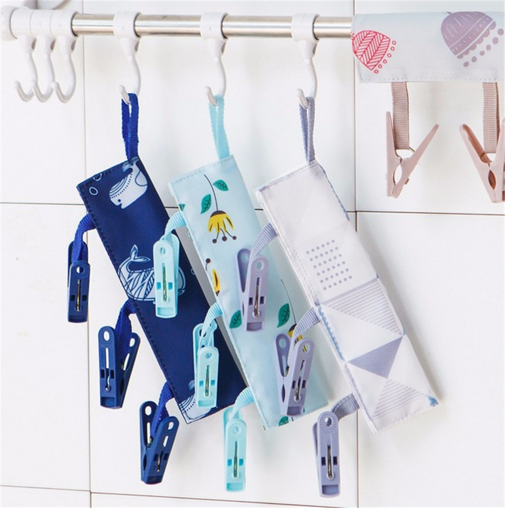 Portable Folding Clothes Rack Cloth Hanger Drying for Travel Outdoor