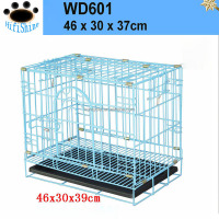 1 Door Black Small ABS Tray Pet Folding metal dog crate iron fence dog kennel