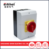 CE certificate china factory high quality 16a 25a 32a 40a 63a 80a 100a on off waterproof rotary switch