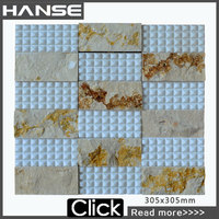 HS-M4008 marble mosaic table top/ home marble pattern mosaic design