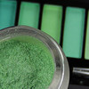 Inorganic mica pigment powder with green one