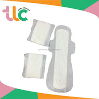 breathable cotton feminine shaped sanitary pad