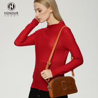 2018 Factory Spring Autumn Women Stylish Plain Color Pullover Long Sleeve Cotton Wool Sweaters