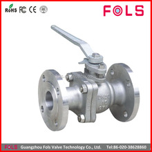 lever operated carbon steel flange type ball valve