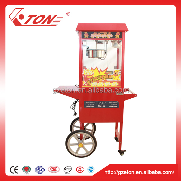 Vending Commercial Popcorn Machine with Cart