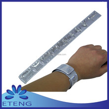 high quality slap bracelet/hand bracelet silicone wristband rubber bracelet for promotion
