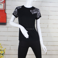 New Sexy Women's Short Sleeve Lace T-shirt Casual Shirt Blouse Tops