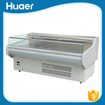 China exporters 0~10 degree meat counter display Supermarekt fish display counter for sale