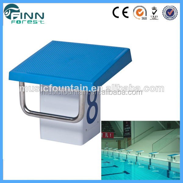 Professional pool starting block for Competition pool