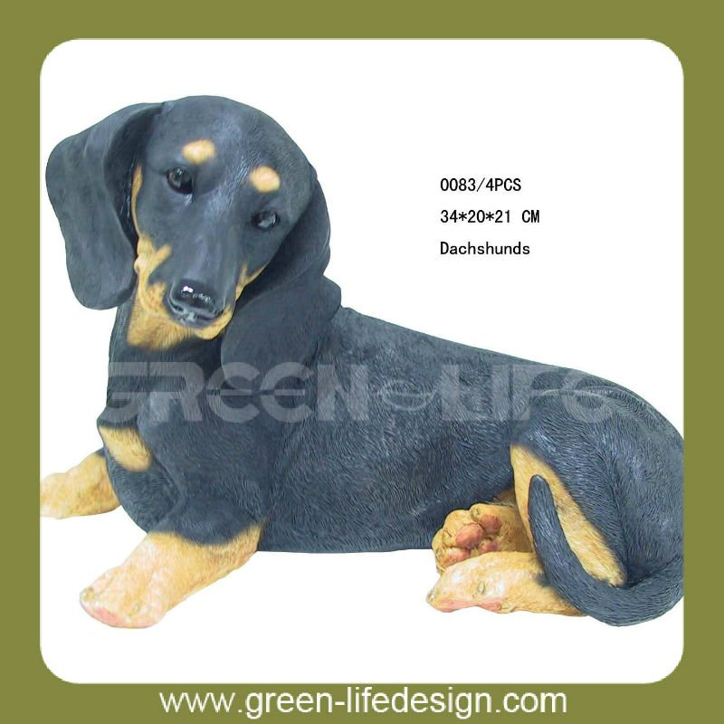 German shorthaired resin dog figurines