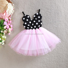 2017 Kids birthday party children dresses girls suspender dress children frocks designs