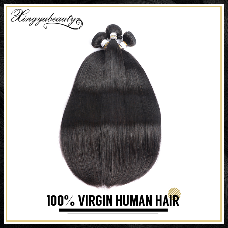 Popular style hair extensions gray human hair, long hair natural black color, body wave remy human hair