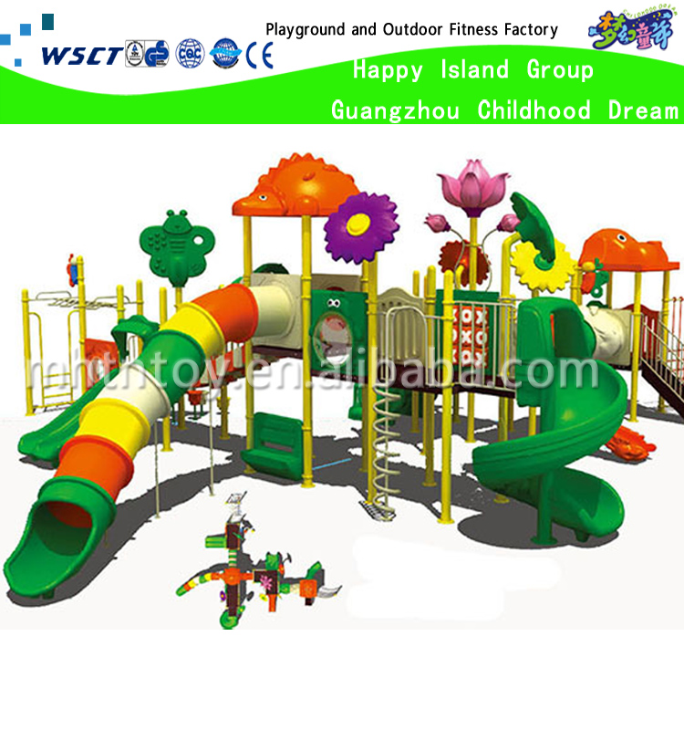 Colorful outdoor preschool playground equipment