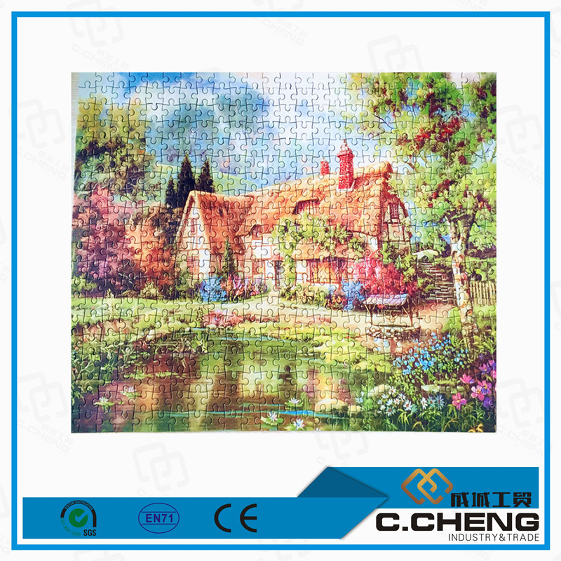custom adults puzzle game 500 pieces 2d paper jigsaw puzzles