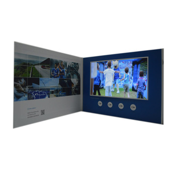 BBT New Product 2019 Hard Cover LCD Video Greeting Card Video In Print