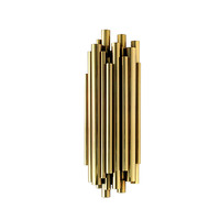 SIMIG modern brass LED wall lamp for home and hotel decoration